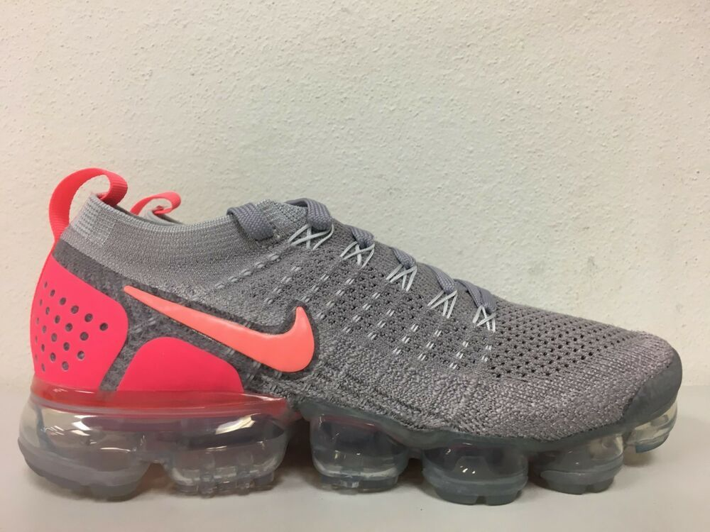 27d95d863a583 Nike Air Vapormax Flyknit 2 Atmosphere Grey Crimson 942843 005 ...