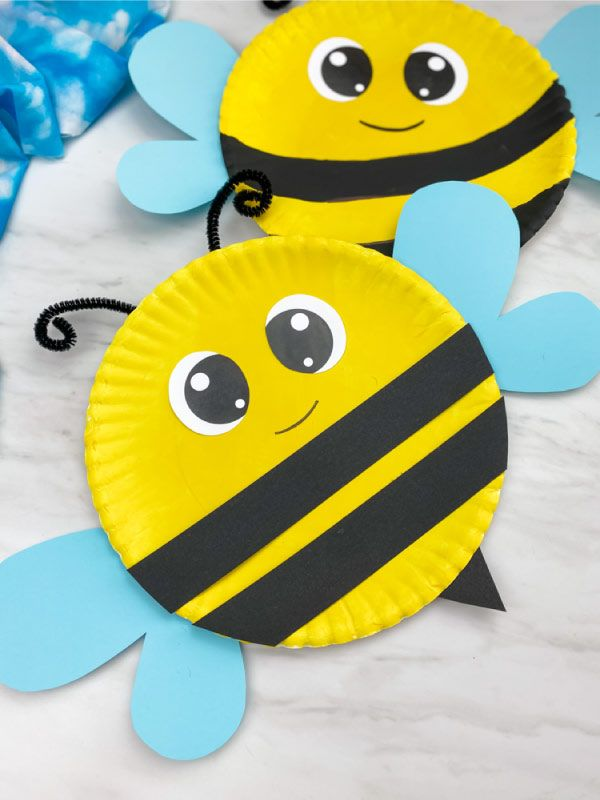 Paper Plate Bee Craft For Kids [Free Template]