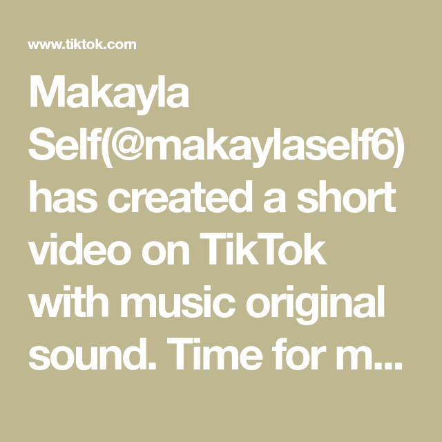 Makayla Self Makaylaself6 Has Created A Short Video On Tiktok With Music Original Sound Time For My Spring Entry Table Airpo In 2021 The Originals Farah Video