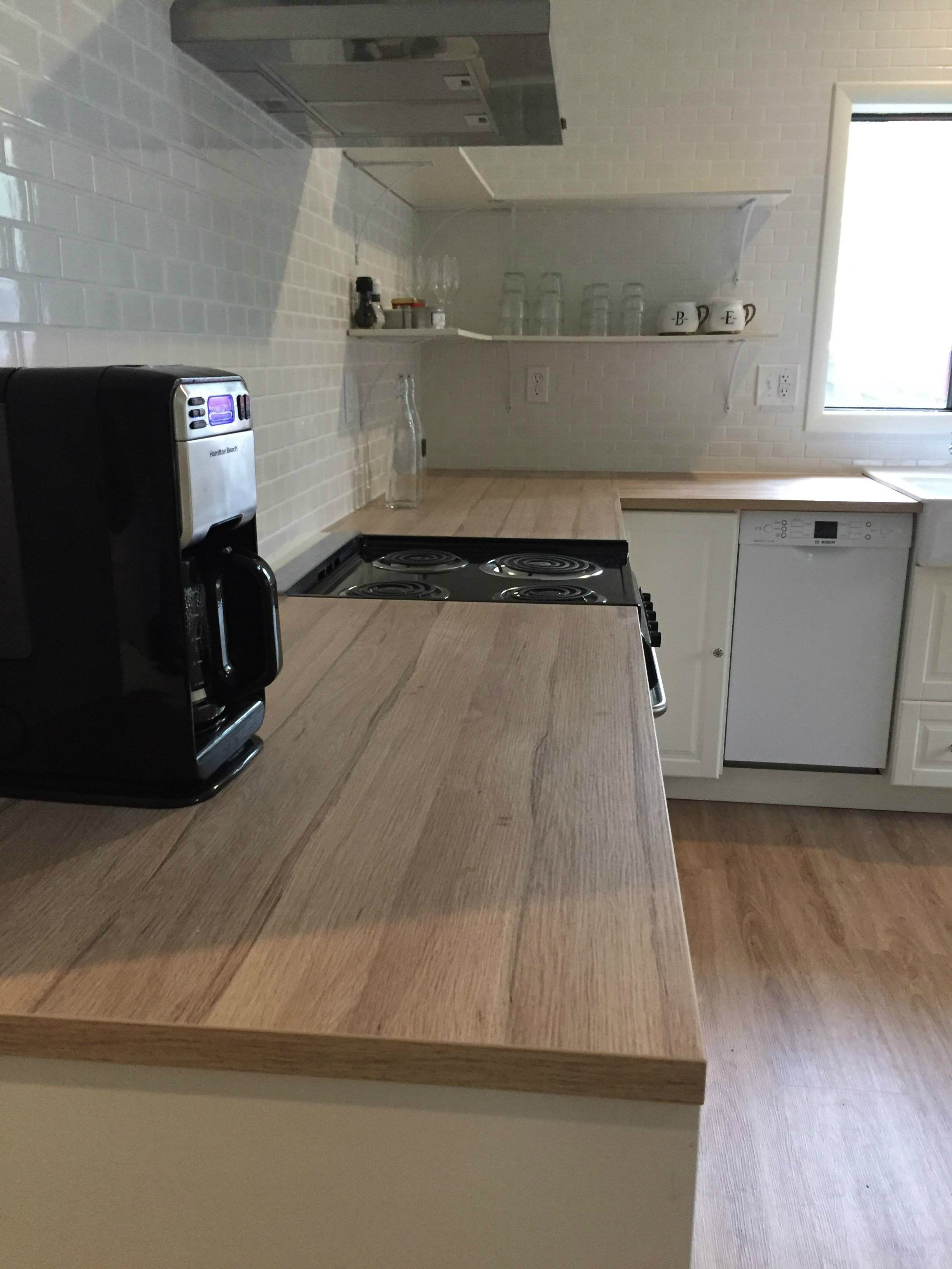 Our Client Chose A Laminate Countertop For Her Ikea Kitchen Why Because Quartz Ikea Kitchen Design Cheap Kitchen Countertops Inexpensive Kitchen Countertops