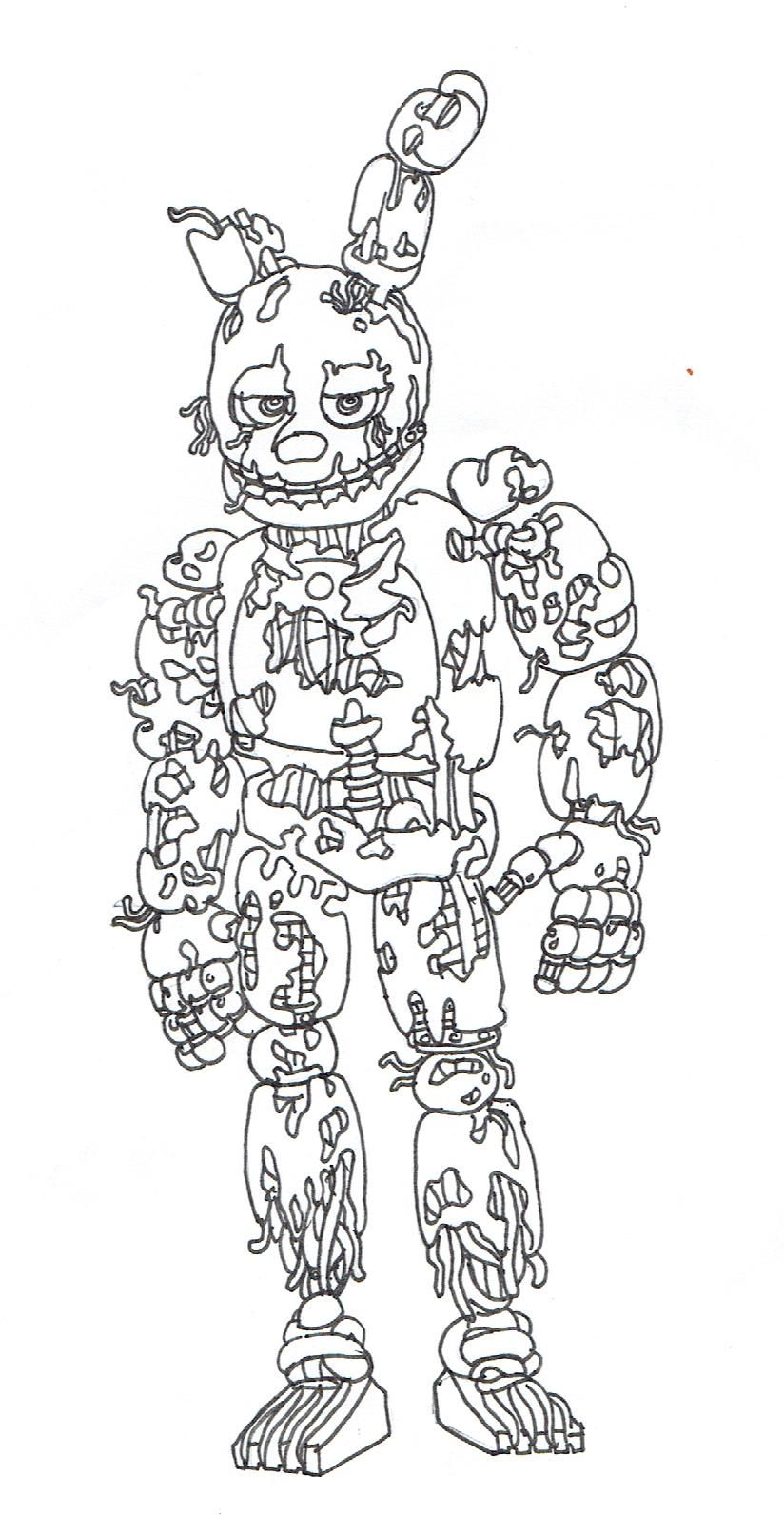 Five Nights At Freddys Coloring Pages Springtrap Free Coloring Sheets Fnaf Coloring Pages Minion Coloring Pages Monster Coloring Pages