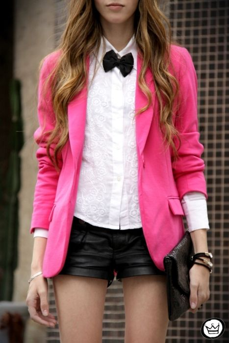 Pretty pink Blazer. It\'s like the opposite of Party Down. amirite ...