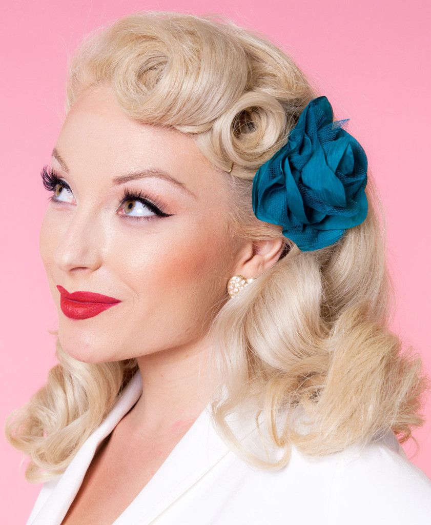 katrina rose - teal in 2019 | vintage hairstyles for long