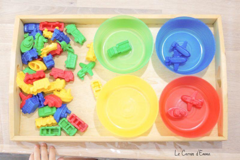 aujourd 39 hui on trie les couleurs maman pinterest couleur montessori montessori et les. Black Bedroom Furniture Sets. Home Design Ideas