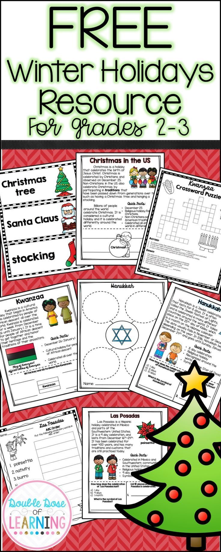 Workbooks las posadas worksheets : Free Winter Holidays resource for grades 2-3. Christmas, Kwanzaa ...