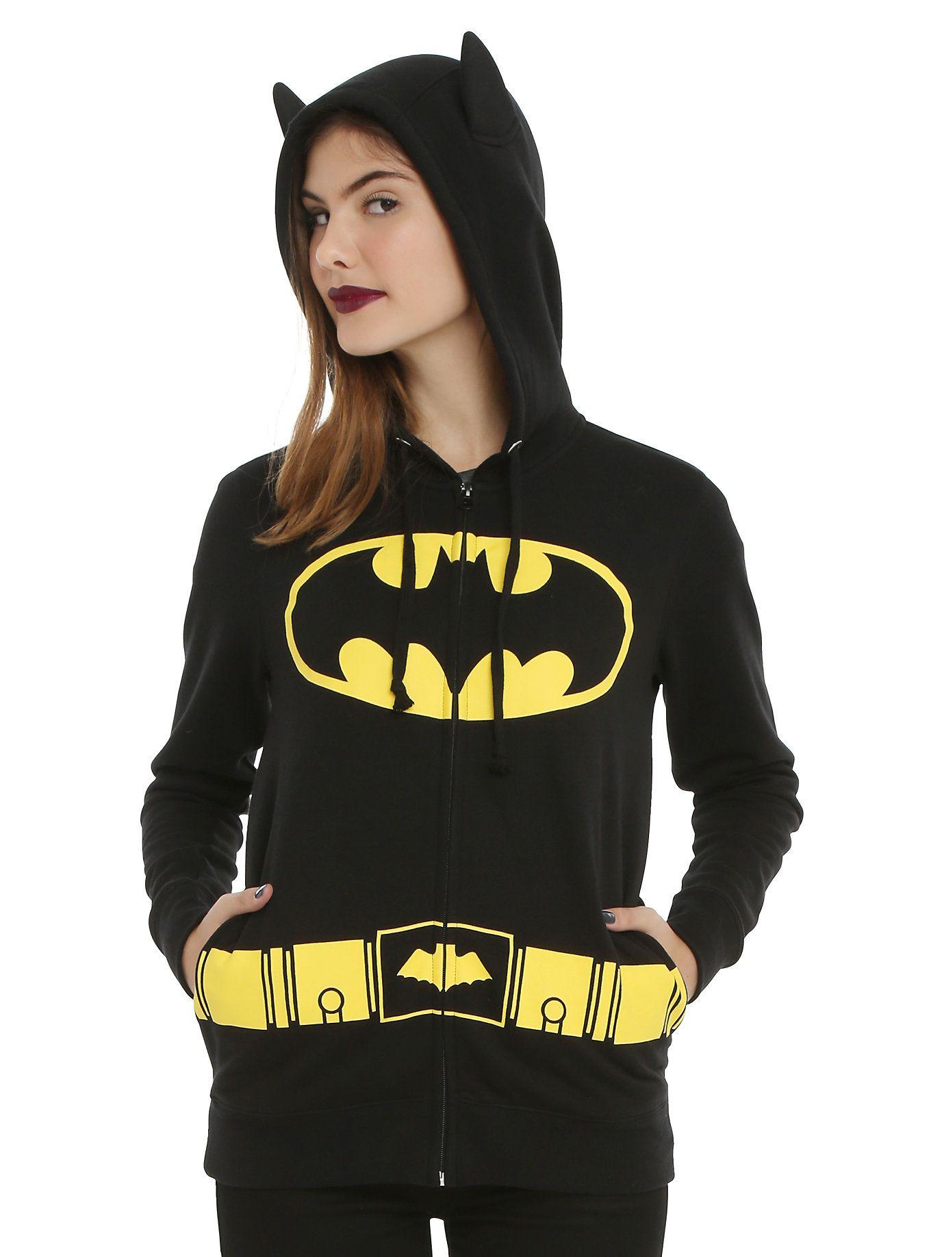 Dc comics batman girls costume hoodie batman hoodie