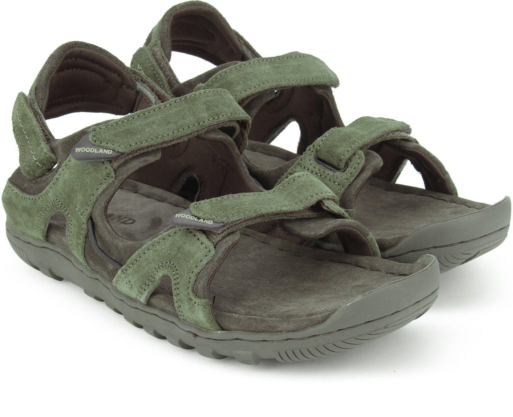 Woodland Men Olive GREEN Sandals - Buy