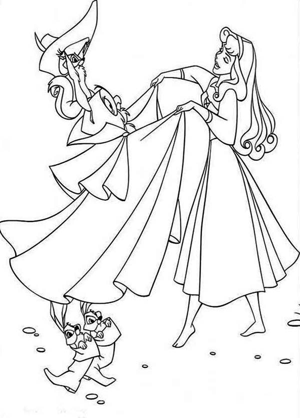 Princess Aurora Is Pretending With Prince Phillip Coloring ...