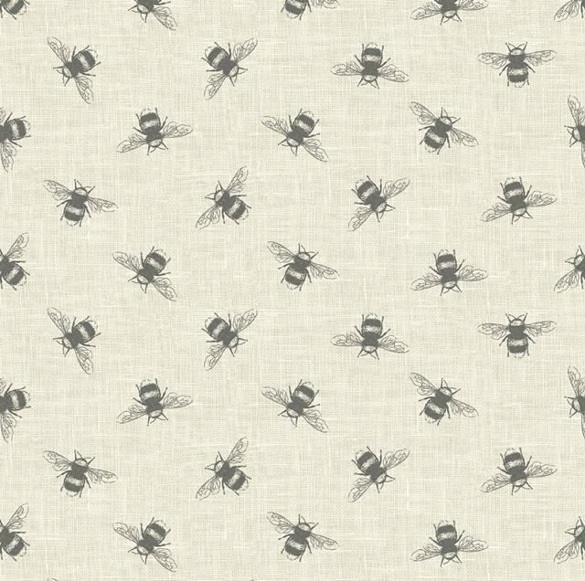Buzzy Bees Bumblebee On Natural Fabric Upholstery Crafts Textiles Design Curtain