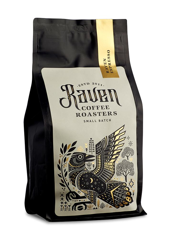 Raven Coffee Brand Packaging — Manifesto Design #teapackaging