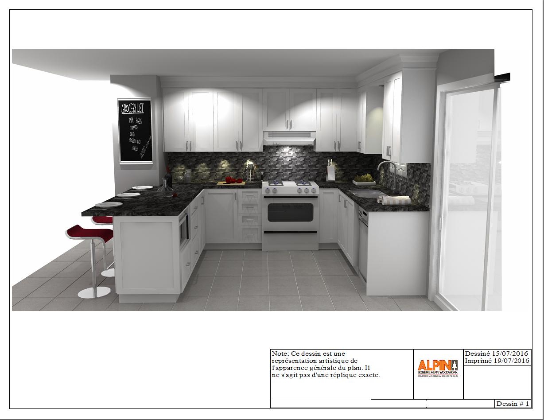 Kitchen Design 3D Concept  Cuisine Alpin  3D Concept Alpin Cool Kitchen Design Concept Decorating Design