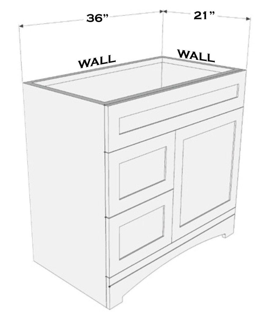 Measuring A Vanity Bathroom vanity sizes, Small