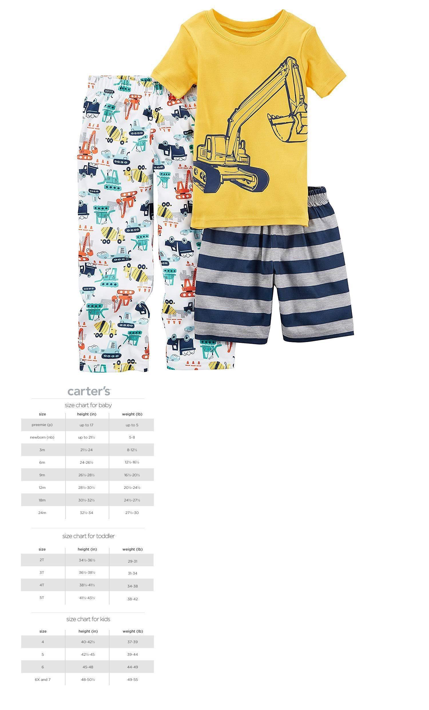 cc1008589341 Sleepwear 147336  Carters Boys 3 Pc Construction Pajama Set Nwt Baby ...