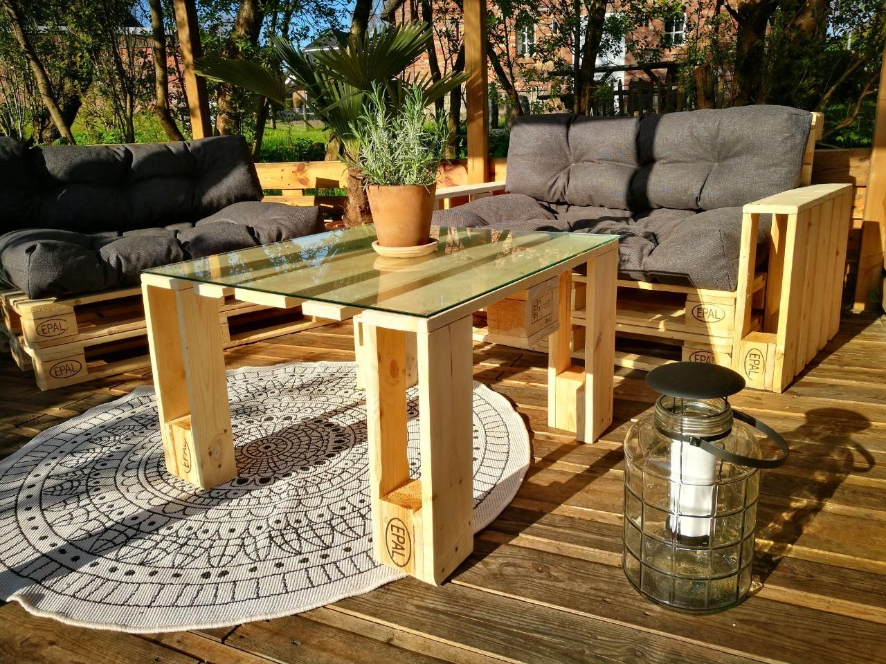ᐅ Paletten Lounge Bauen Kaufen Palettenmöbel Shop Paletten Lounge Palletten Möbel Paletten Garten