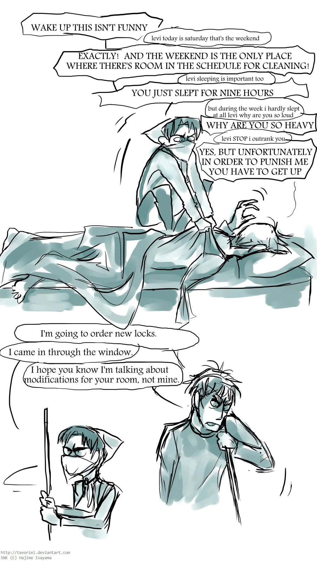 Wake Up This Isn T Funny By Tavoriel On Deviantart Attack On Titan Anime Attack On Titan Funny Attack On Titan