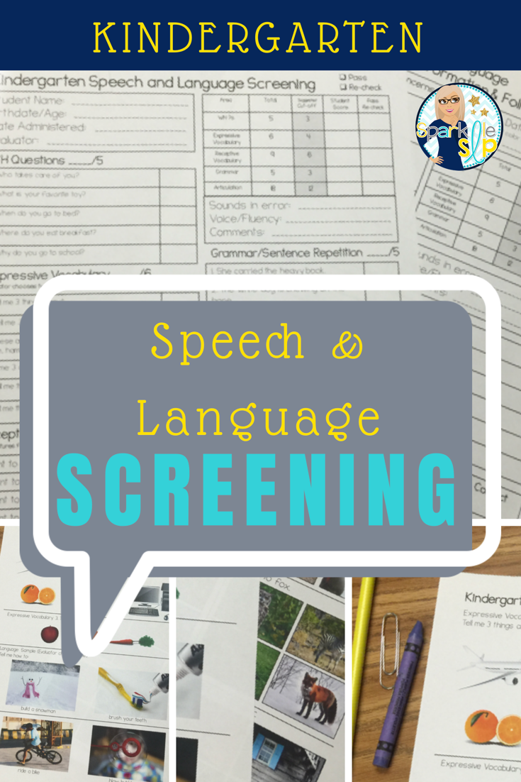 Kindergarten Speech And Language Screening Articulation Speech