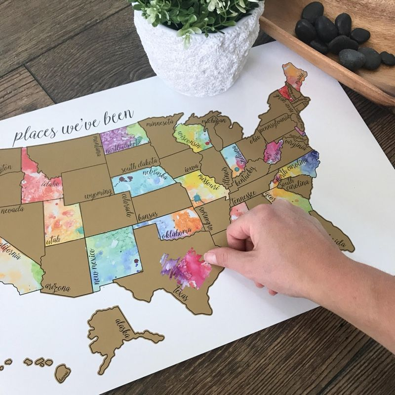 Trying To Hit Up All Fifty US States Keep Track Of Where Youve - Us states i ve been to map