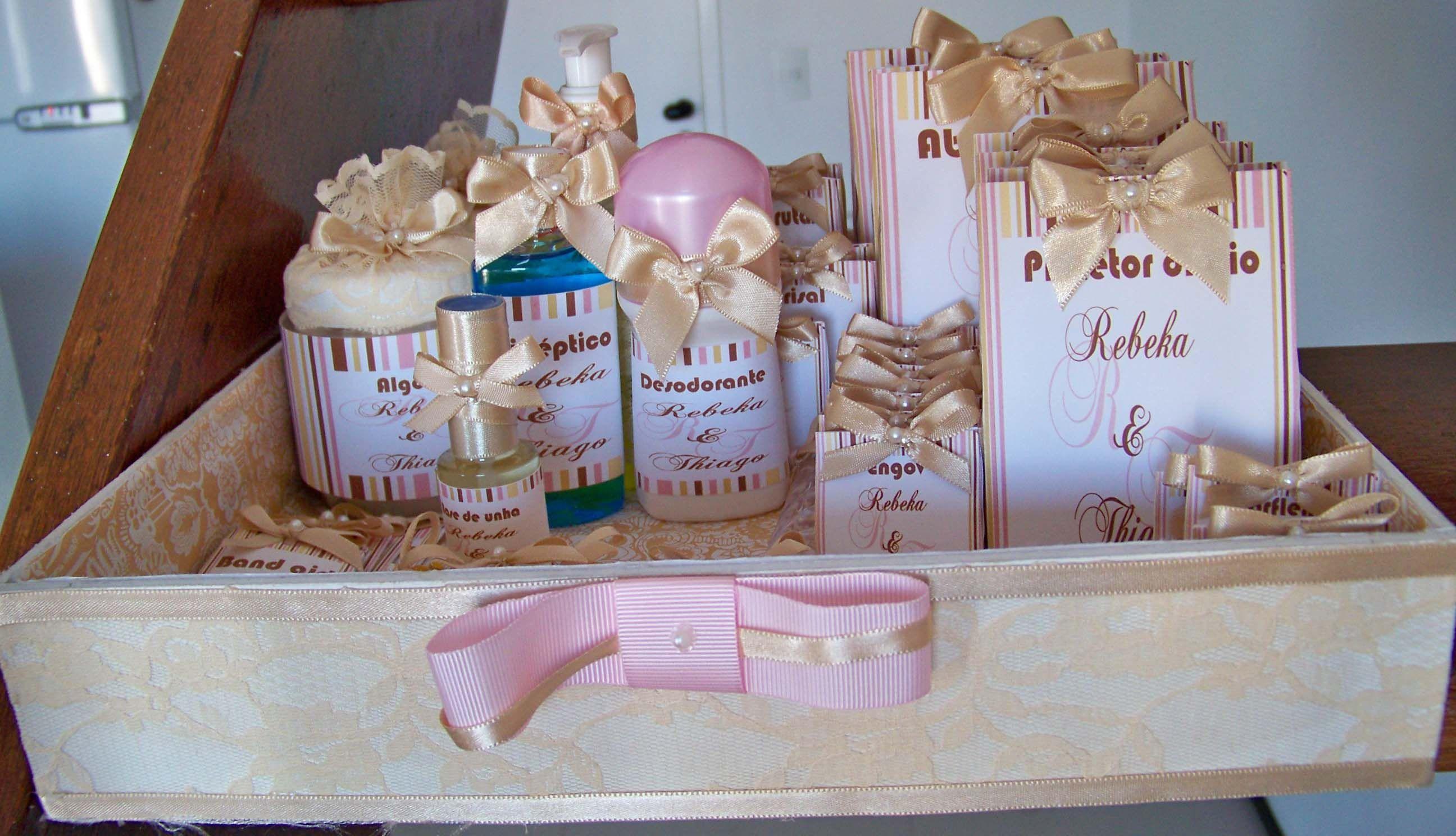 Kit Banheiro Para Casamento Goiania : Kit para banheiro caixas personalizadas