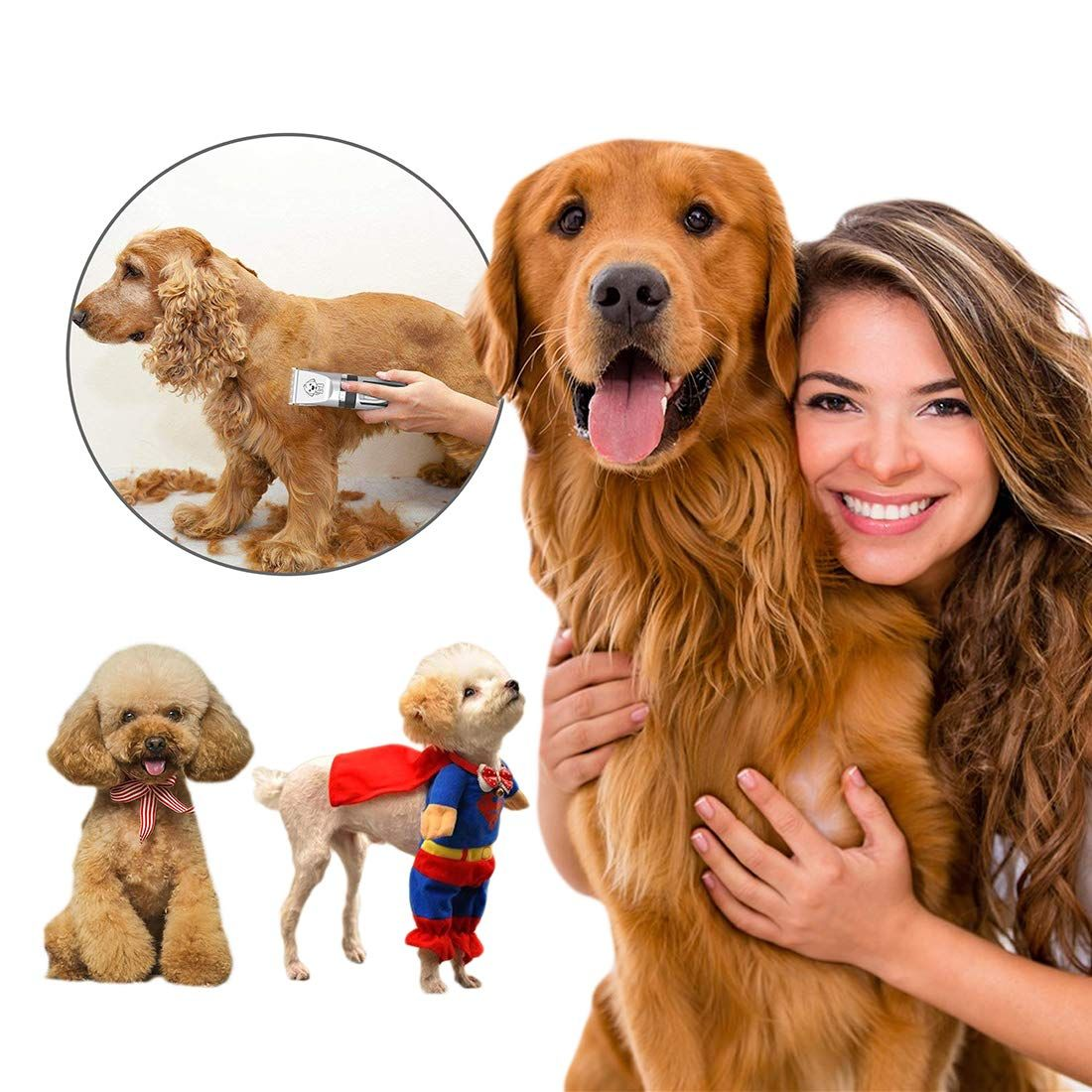 Dog Clippersyidon Cordless Adjustable Pet Clippers Dog Hair