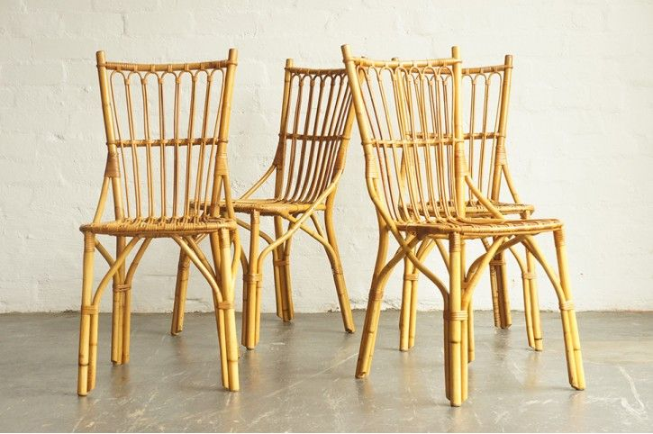 1950s FRENCH BAMBOO CHAIRS