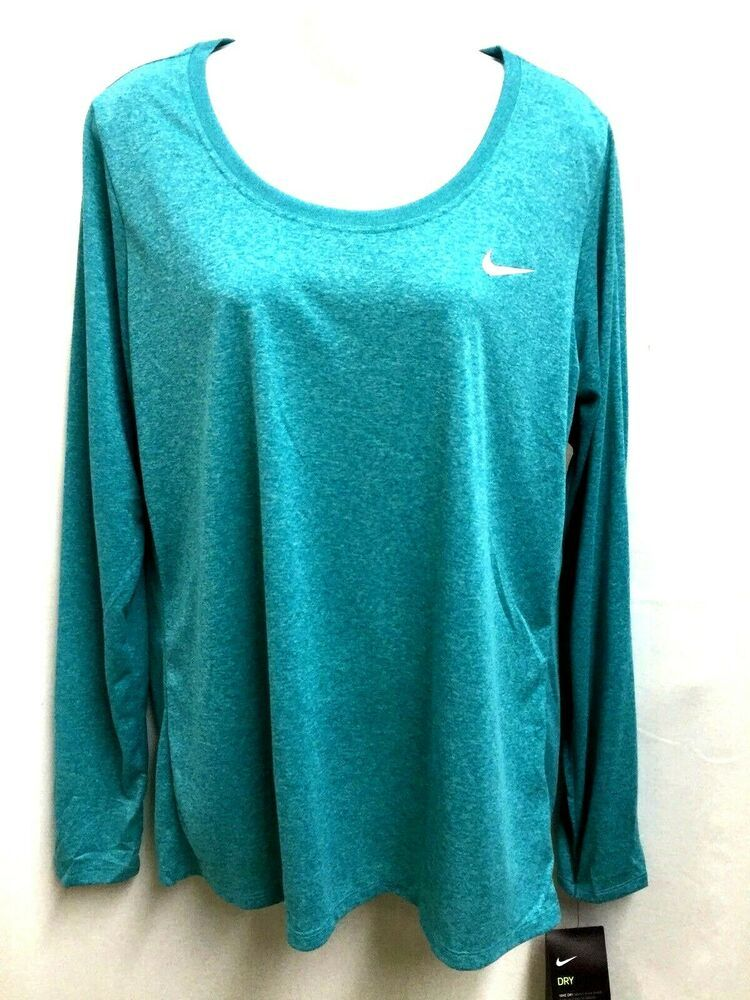 b615631c898a7 Nike Womens Dri Fit Anti-Odor Long Sleeve Training Shirt Top ...