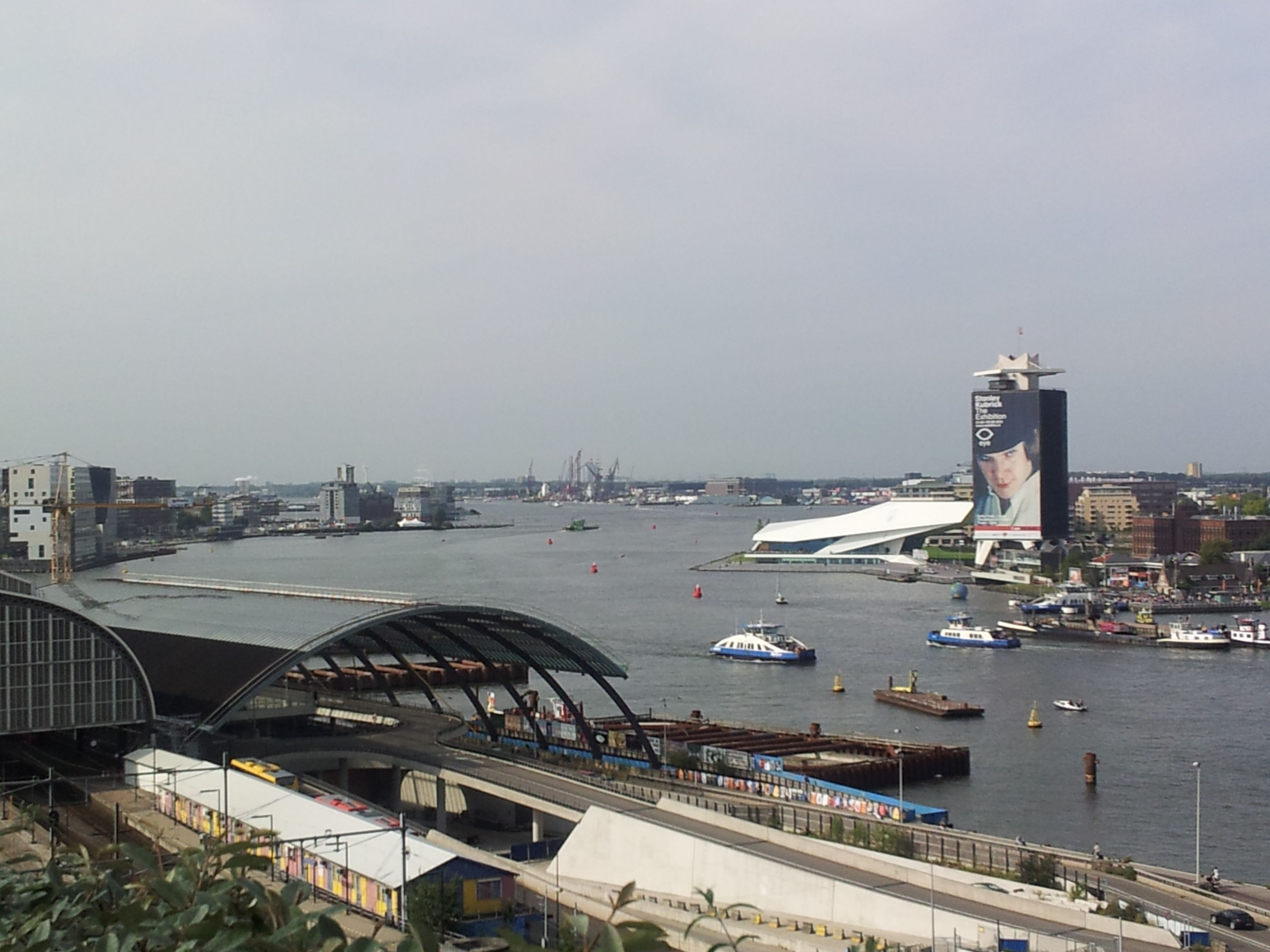 From the rooftop in Amsterdam. The Hilton near the station