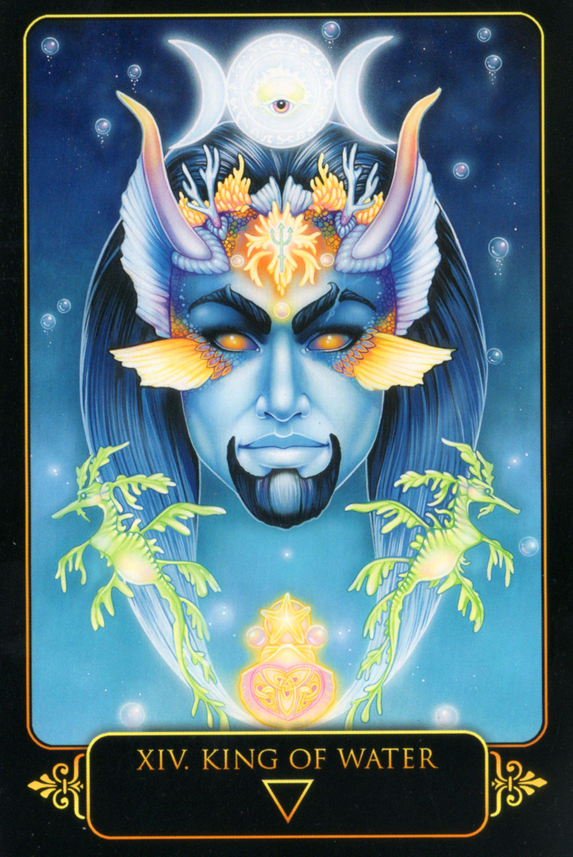 King Of Water Dreams Of Gaia Tarot By Ravynne Phelan Tarot By Cecelia Astro Tarot Tarot Art
