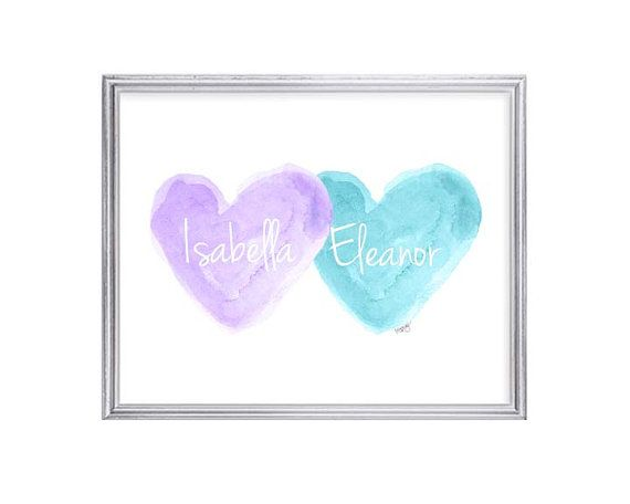 High Quality Lavender And Turquoise Wall Decor Sisters By OutsideInArtStudio