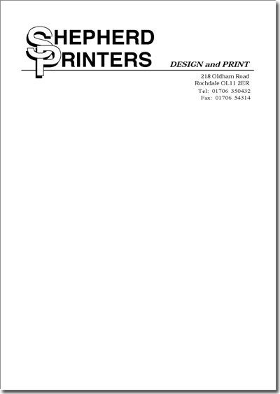 Get your A4 Letterhead printed at cheapest price today with best - business letterhead format
