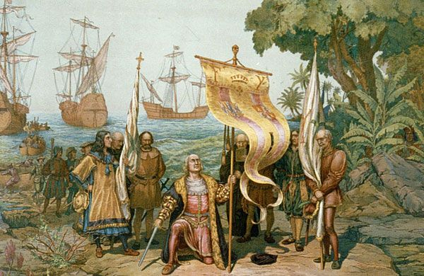 The Cuban discovery by Christopher Colombus