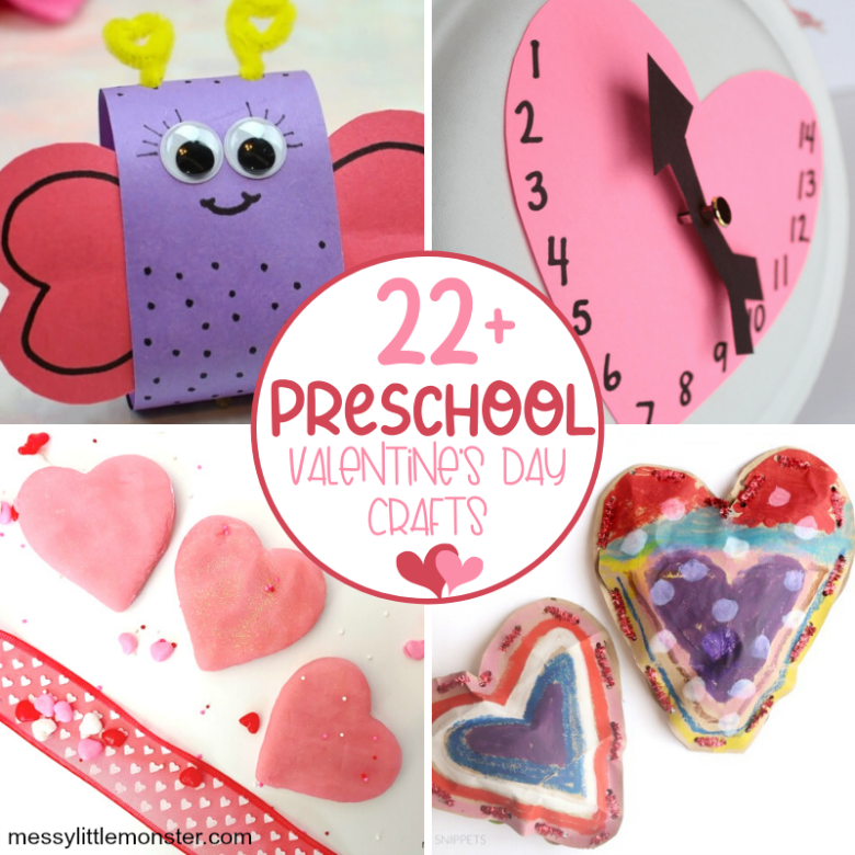 22+ Cute and Easy Preschool Valentine Crafts