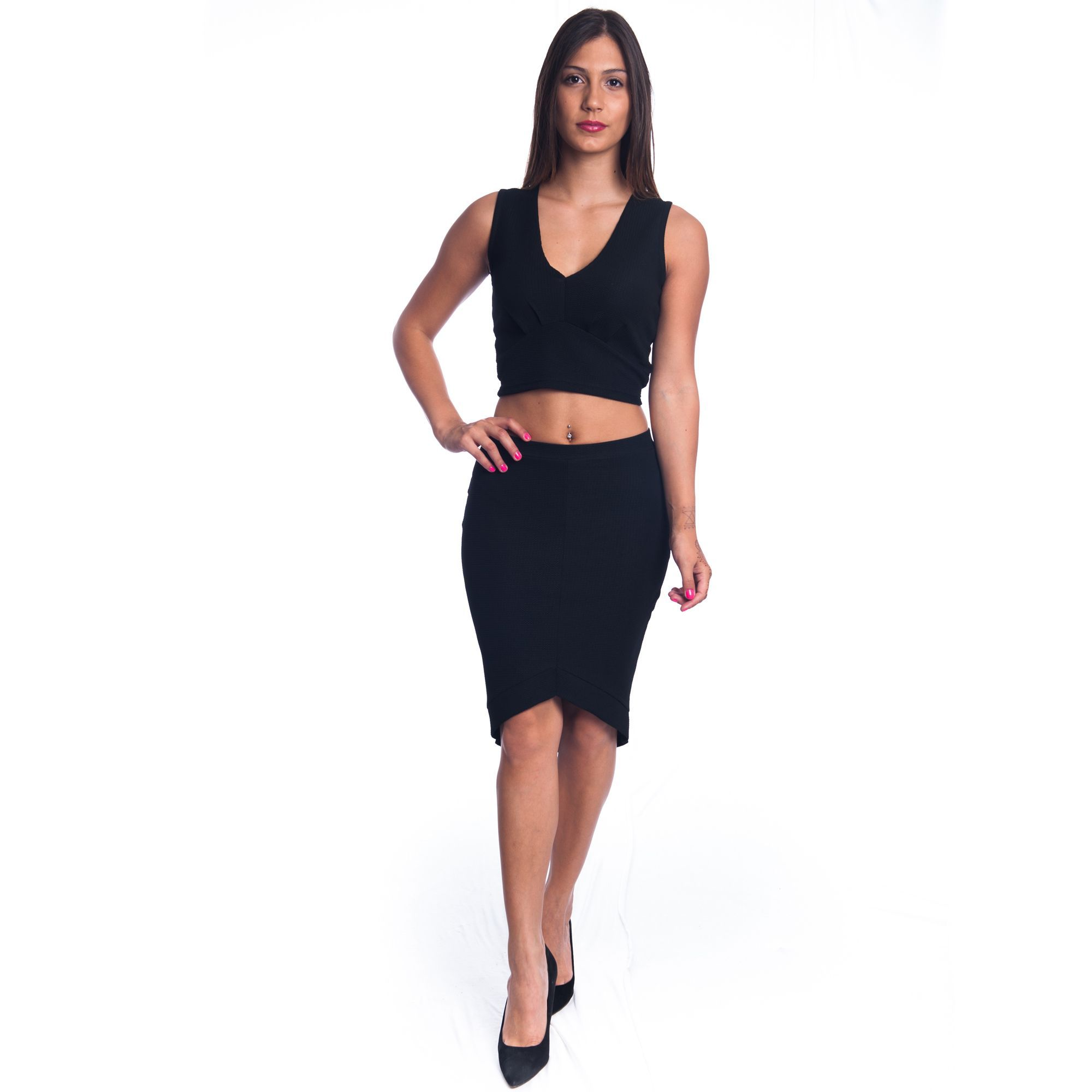 Special One Women's 2-piece Crop Top and Mini Skirt Outfit