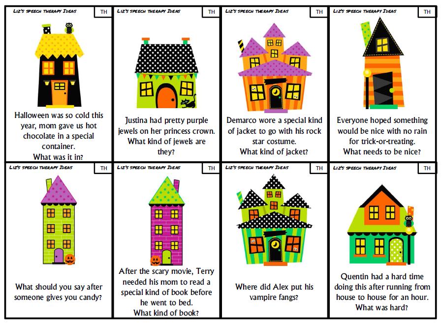 Liz\'s Speech Therapy Ideas: Halloween Articulation Inferences ...