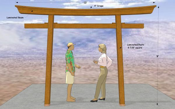 Torii gate dimensions google search house ideas for Make a japanese garden gate