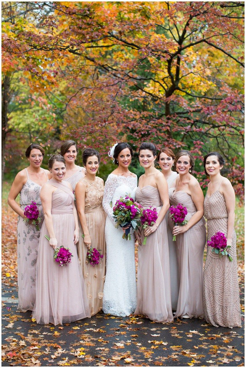 Wedding party mismatched bridesmaids neutral bridesmaid dress wedding party mismatched bridesmaids neutral bridesmaid dress gold bridesmaid rainy fall wedding ombrellifo Choice Image