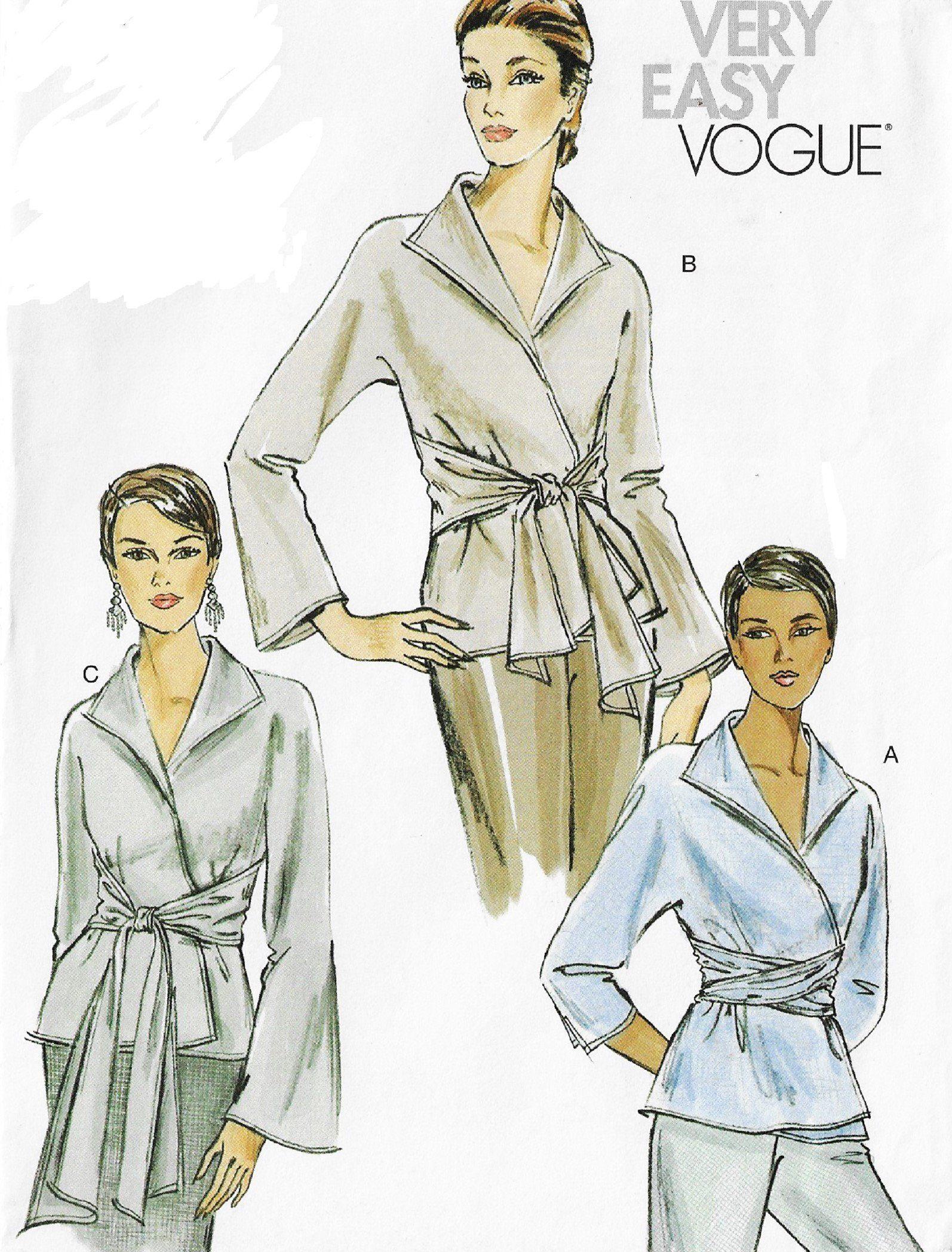 Vtg 60s Retro Blouse Skirt Jacket Knit Cardigan Sewing Pattern Size 6 8 10 12 14
