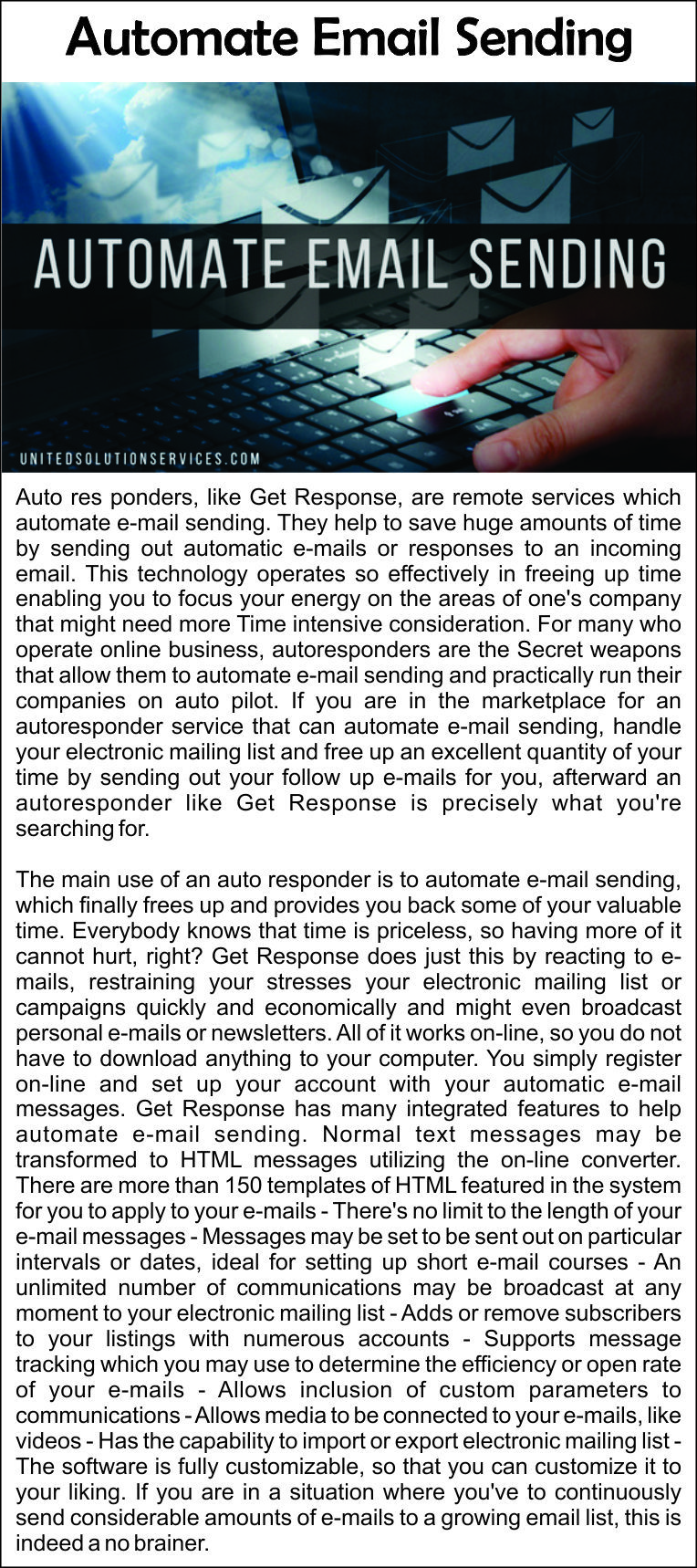 automate #email #sending #electronic #mailing #list #emails #time