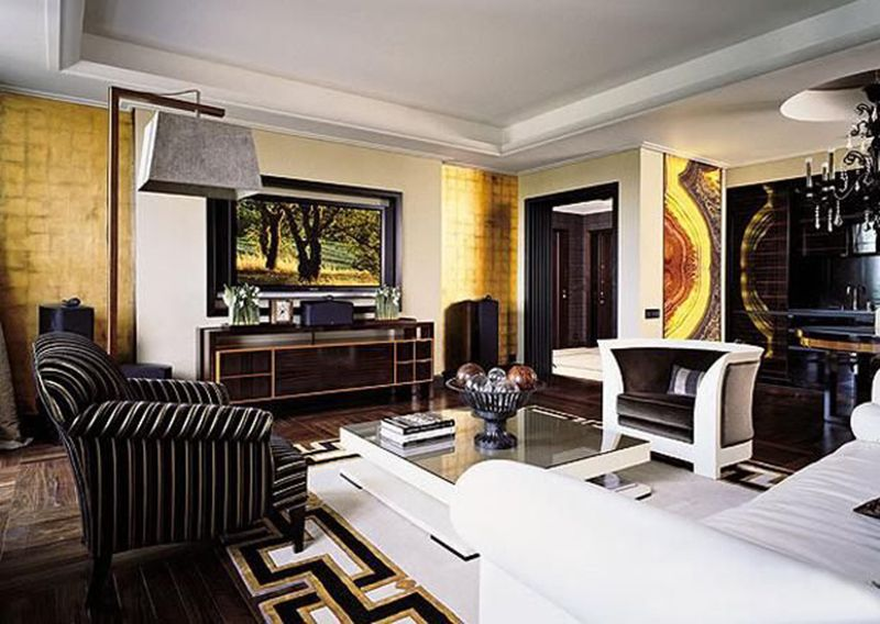 Modern Art Deco Style Interiors Home Decorating Ideas Rich