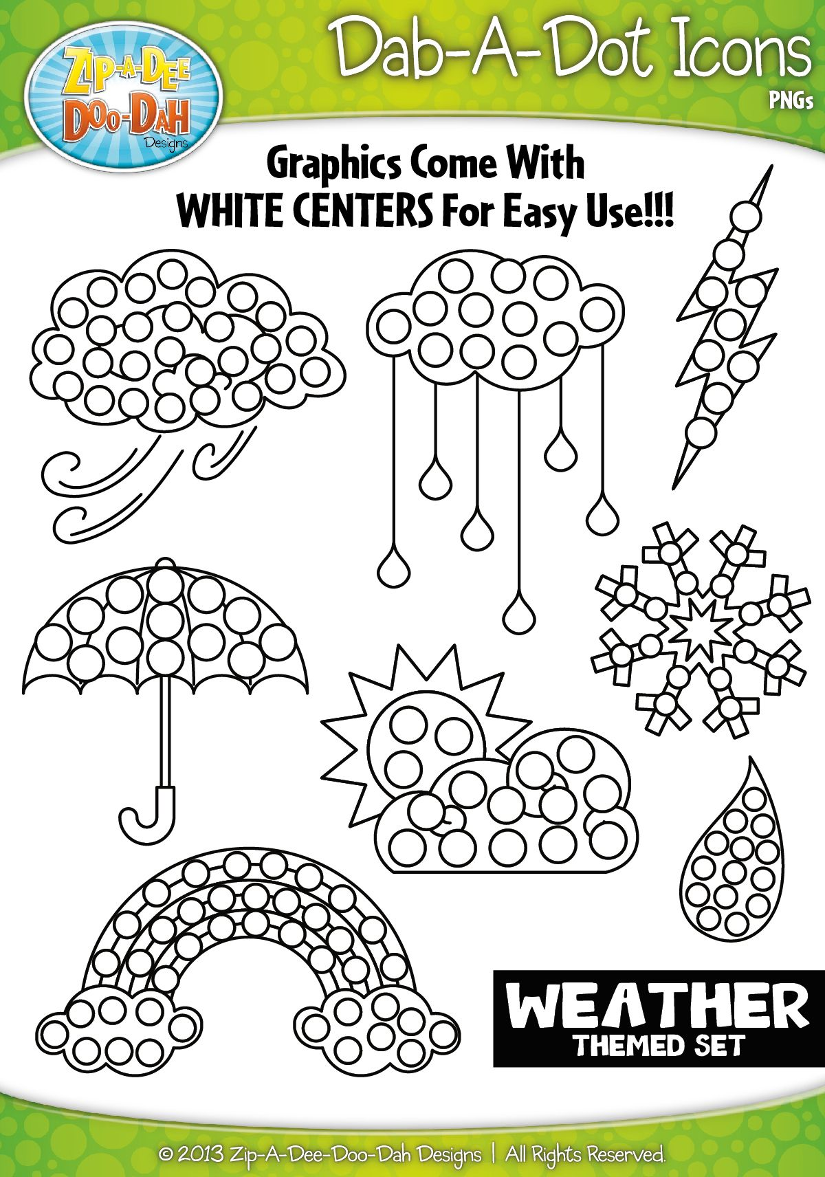 Weather Dab A Dot Markers Graphics Clipart Zip A Dee Doo
