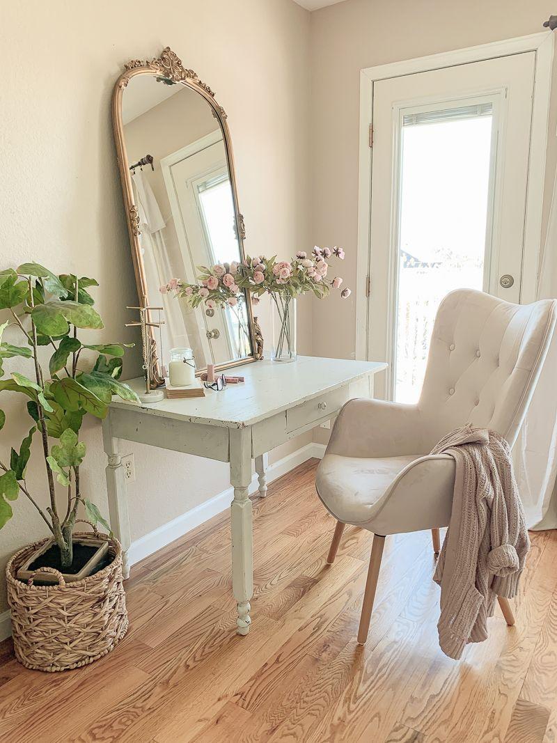 A pretty vanity desk in the bedroom sarah joy blog in