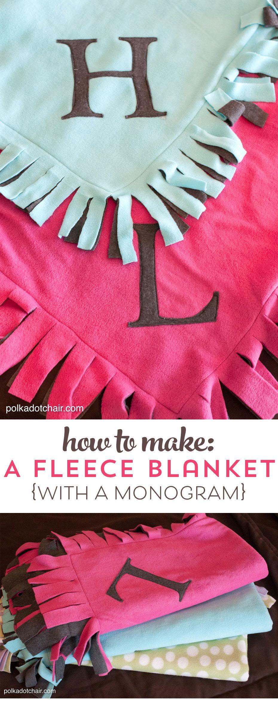 Easy peasy fleece blanket tutorial the polkadot chair sewing