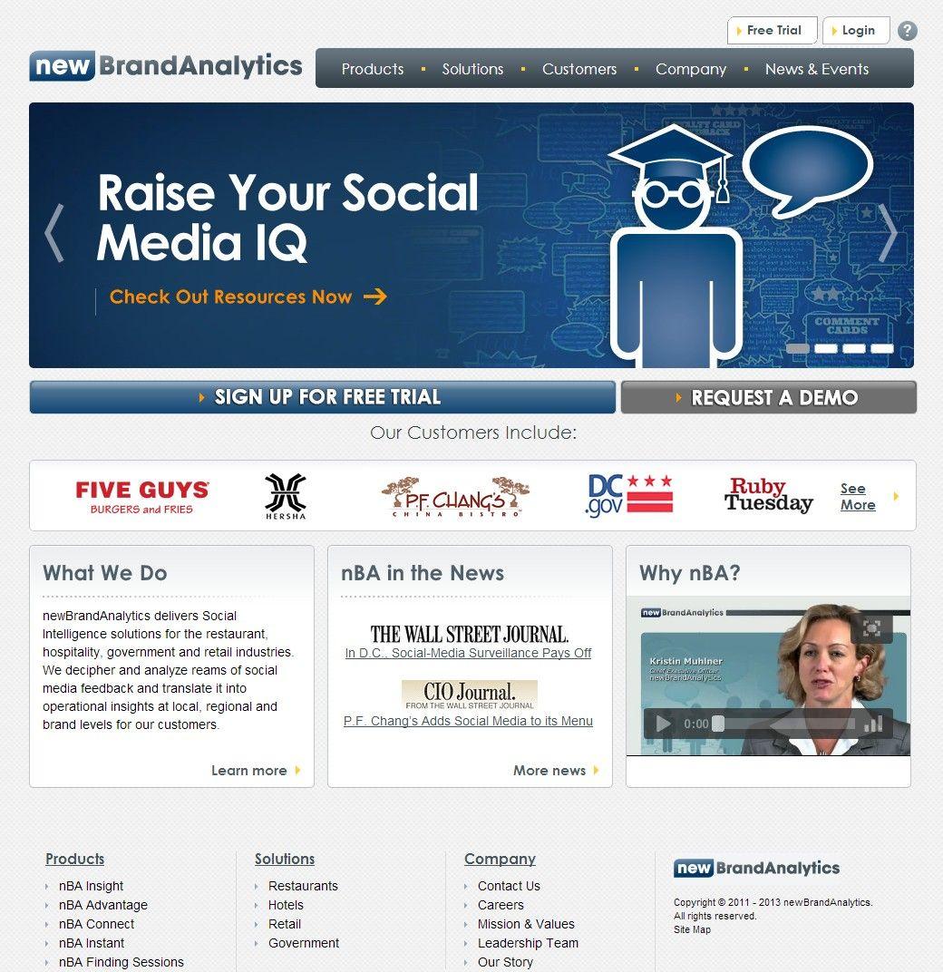Corporate Website Design For Dc Social Media Analytics Organization Print Marketing Materials Corporate Website Design Website Design Marketing Website