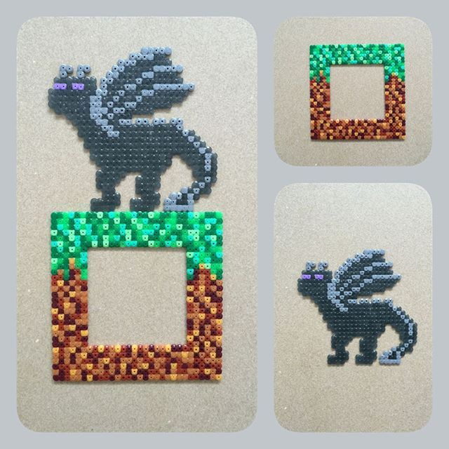 minecraft dragon switch light cover perler fuse beads by. Black Bedroom Furniture Sets. Home Design Ideas
