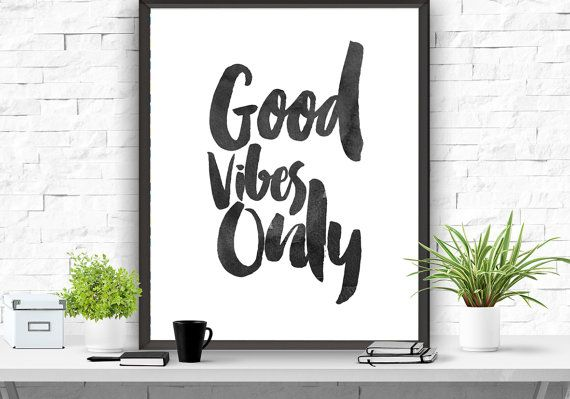 wall quotes home decoration Positive-vibes-only