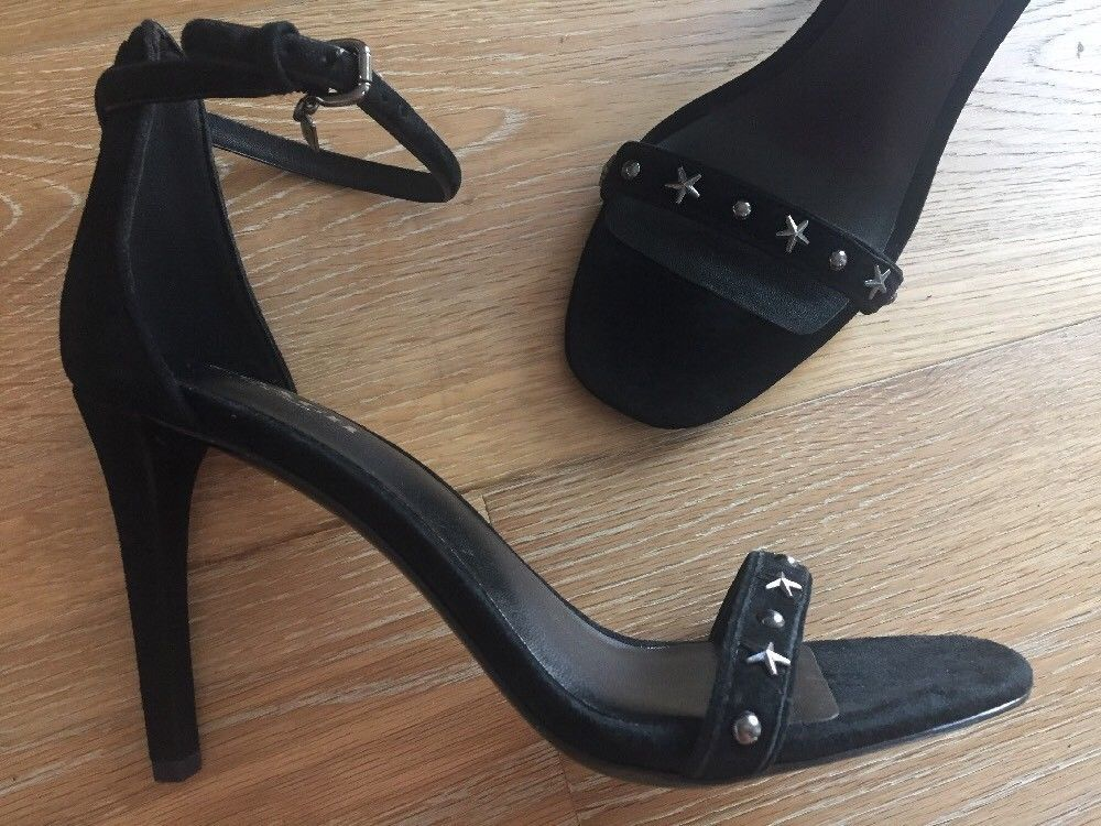 b416fa0f8cb1 New Coach Melrose Studded Stiletto Heel Sandal Black Suede 7 ...
