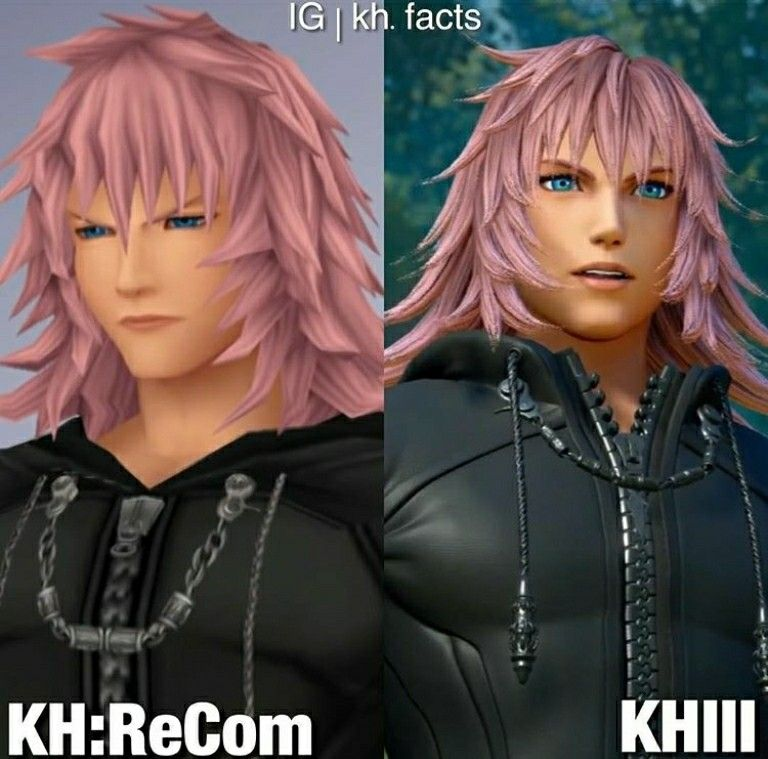 Marluxia Com Vs Kh3 Kingdom Hearts Kingdom Hearts Kingdom