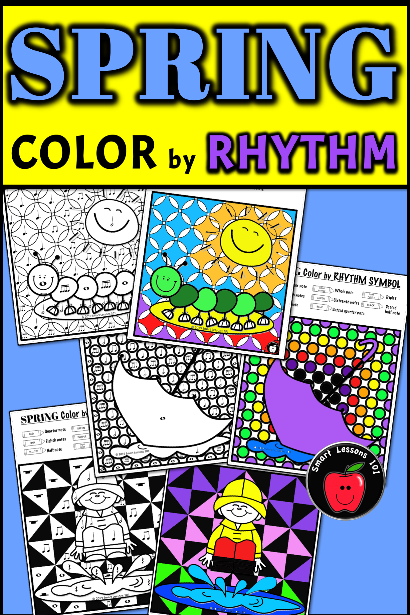 Spring Music Color By Code Color By Note Color By Rhythm