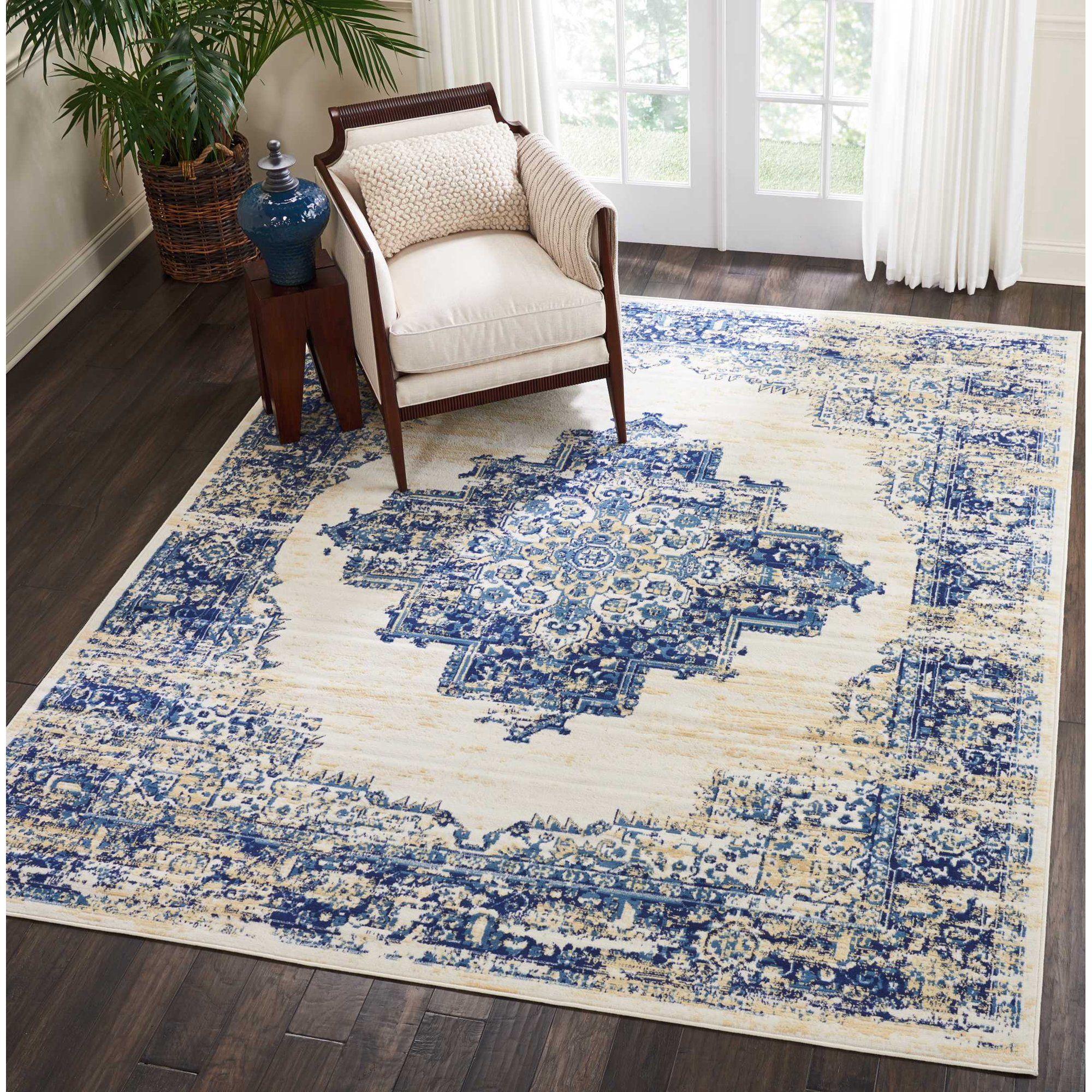 Nourison Grafix Center Medallion White Area Rug Walmart Com In 2021 Area Rugs Cheap Large Area Rugs Area Rugs Center carpet for living room