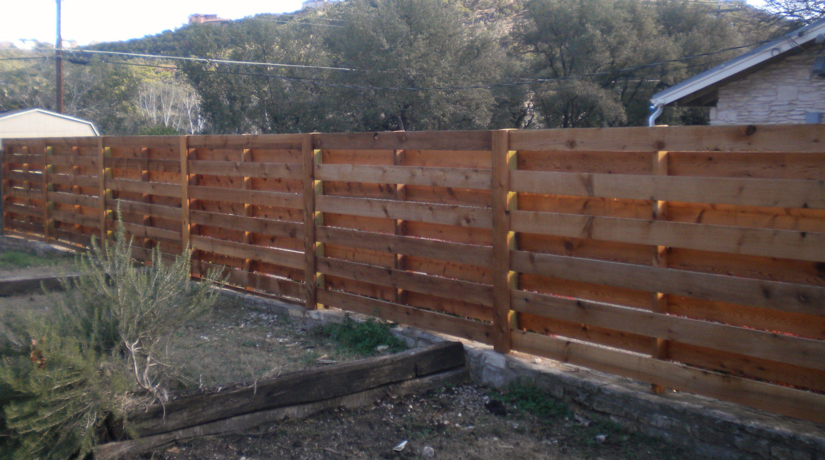 Wood Fence Construction Garden Vineyard Winery