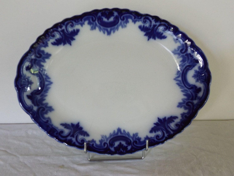Piatto ovale inglese in porcellana di CodiceAntico su Etsy